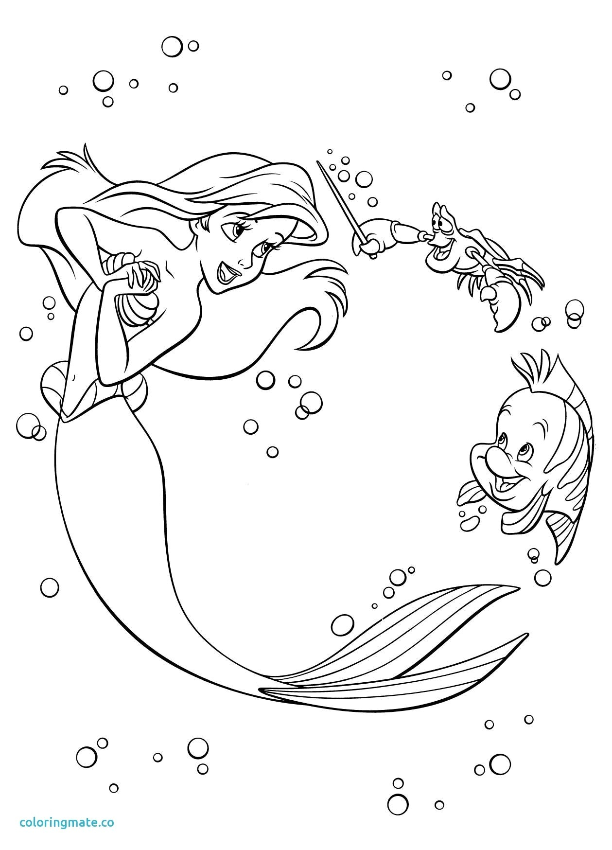 Godzilla Coloring Pages Princess Paw Patrol Coloring - Ariel And Flounder Coloring Page , HD Wallpaper & Backgrounds