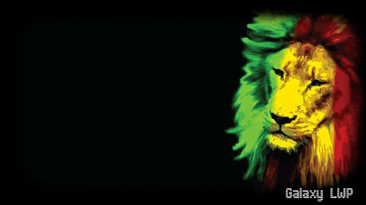 Reggae Wallpaper - Rasta Lion Desktop Backgrounds , HD Wallpaper & Backgrounds
