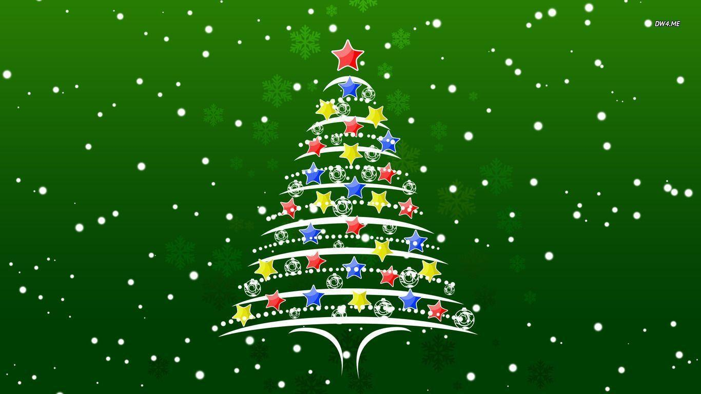 Christmas Tree Wallpaper - Holiday Christmas Tree Background , HD Wallpaper & Backgrounds