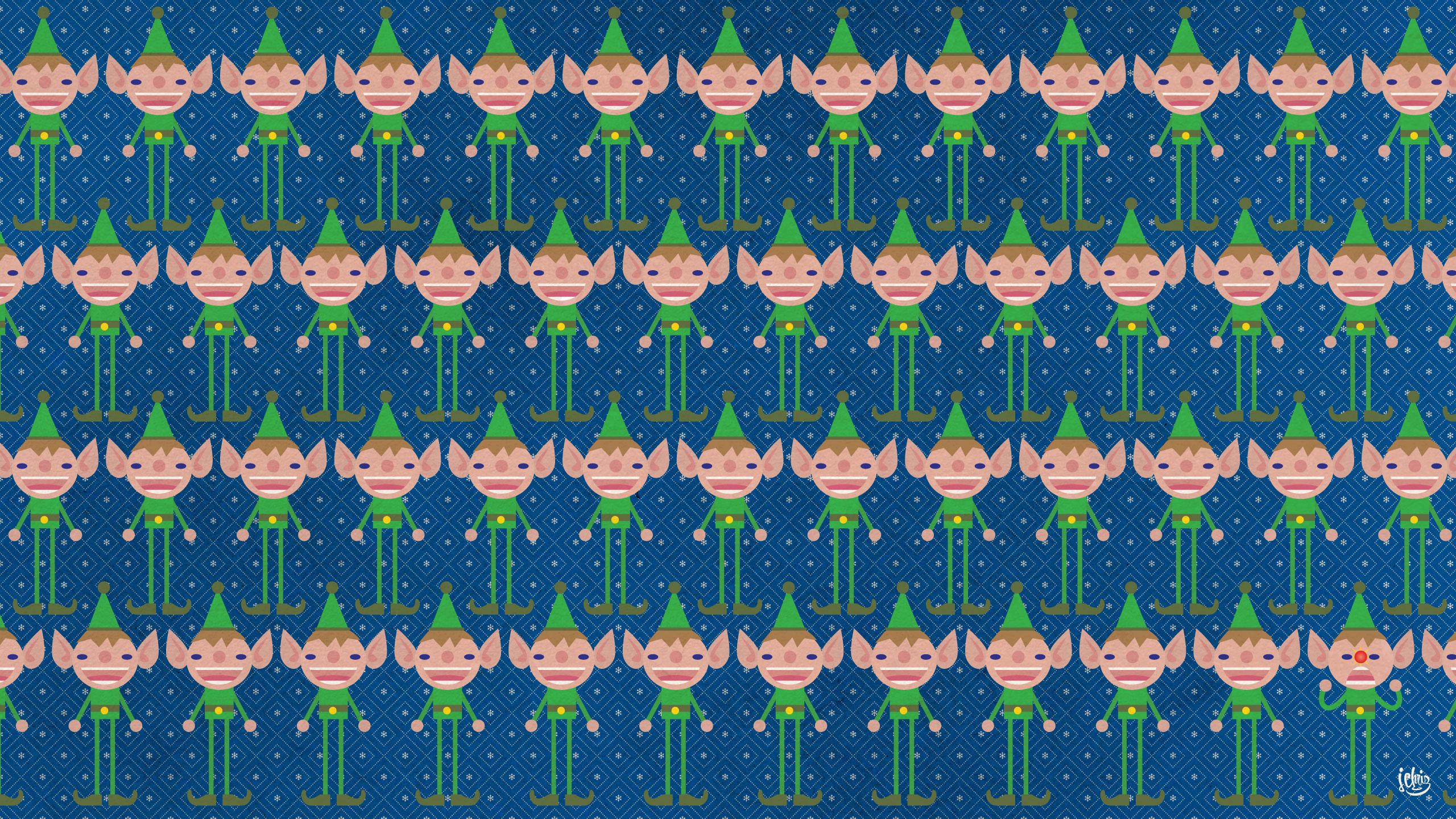 Deck Your Desktop With Elves - Christmas Sweater Desktop , HD Wallpaper & Backgrounds
