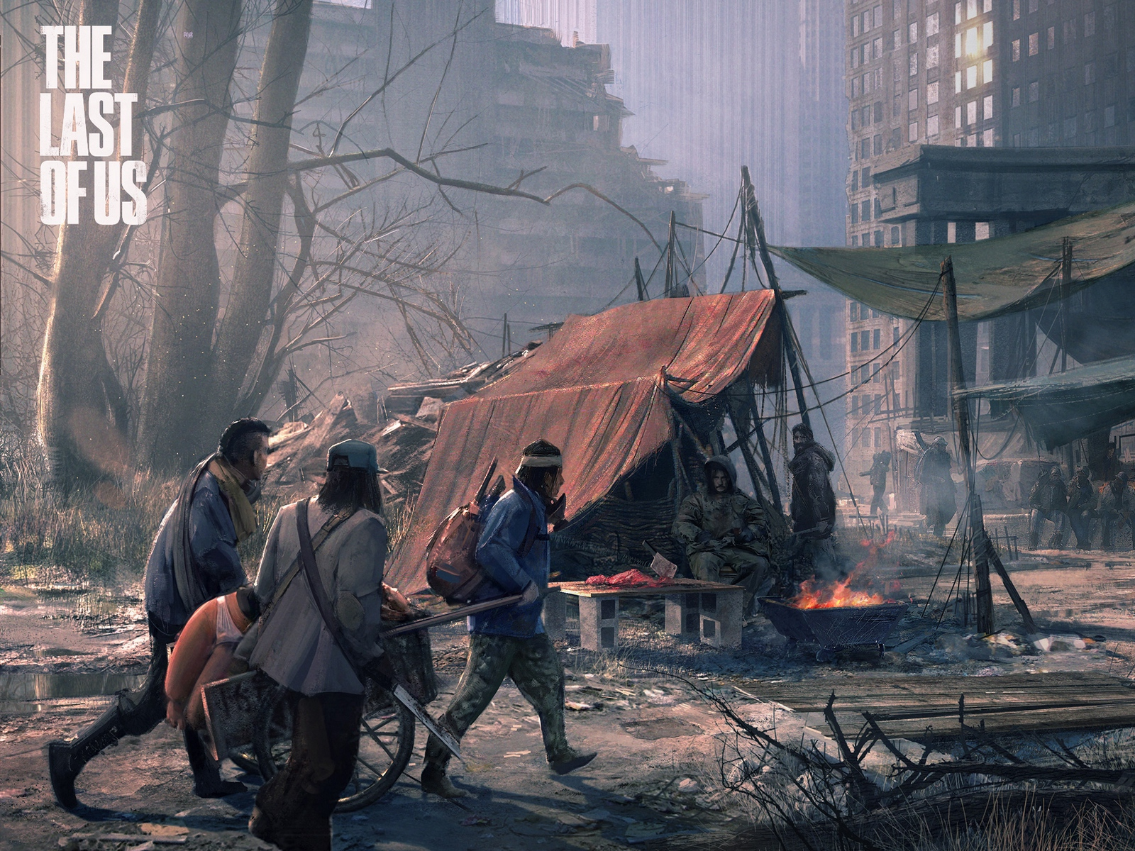 Wallpaper The Last Of Us City Doomsday People Art 1481499 Hd Wallpaper Backgrounds Download