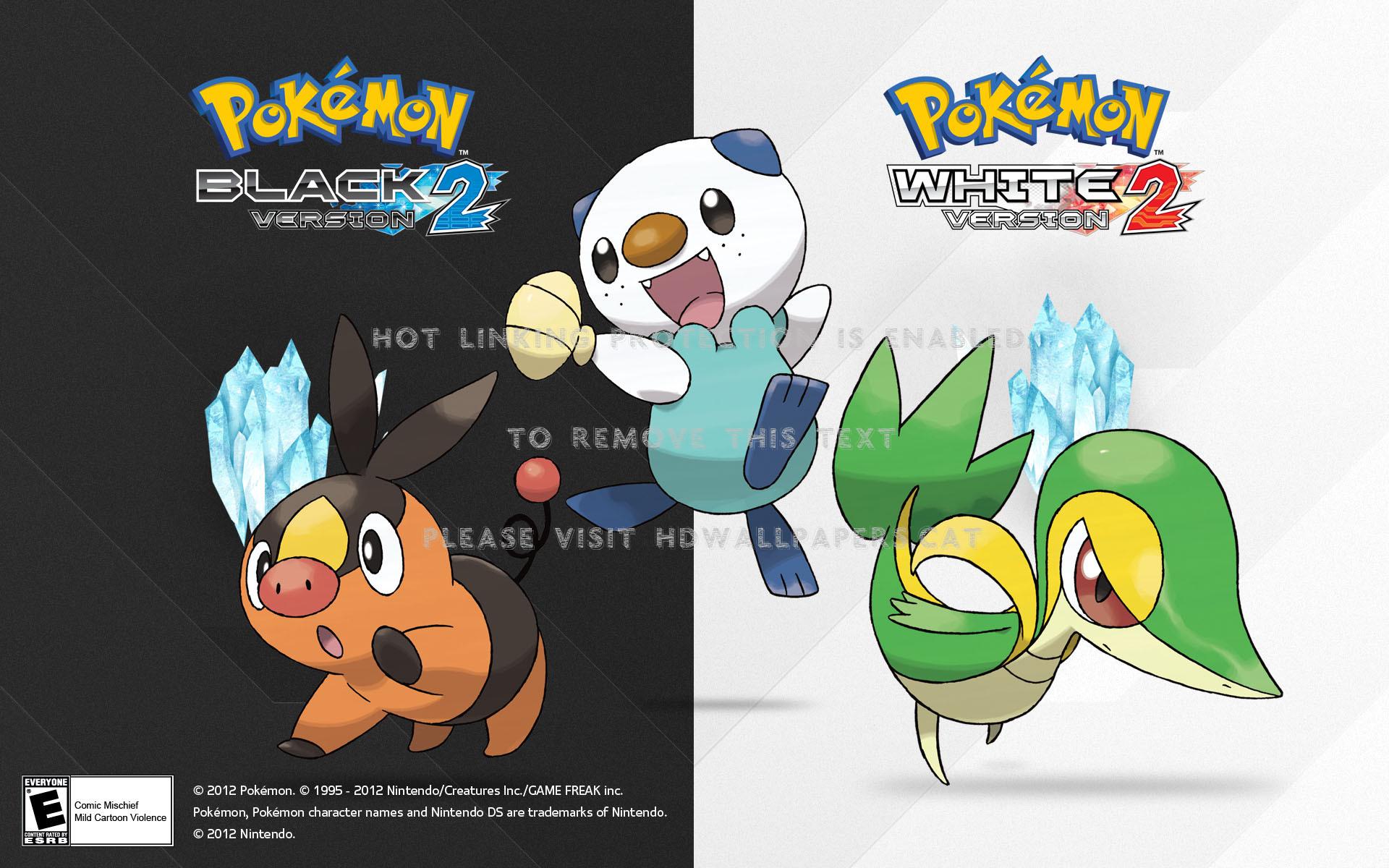 Pokemon Black White Version 2 1481955 Hd Wallpaper