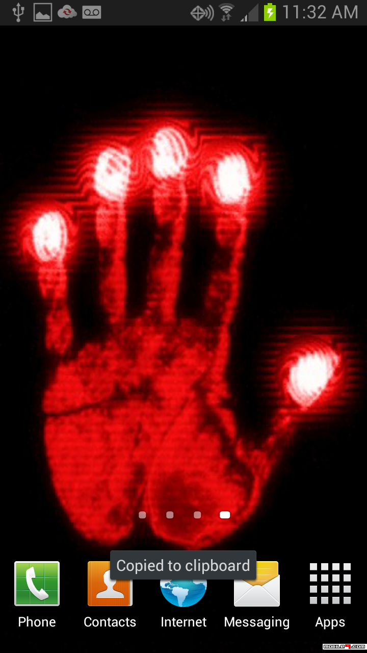 Hand Scanner Live Wallpaper Dont Touch My Phone 1482989