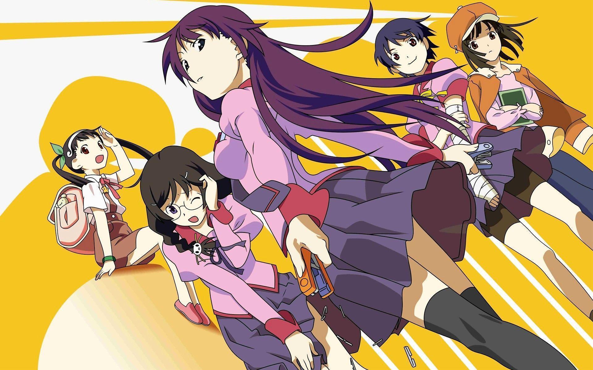Bakemonogatari Hd Wallpapers And Backgrounds Tsubasa Hanekawa Nadeko Sengoku 1489914 Hd Wallpaper Backgrounds Download