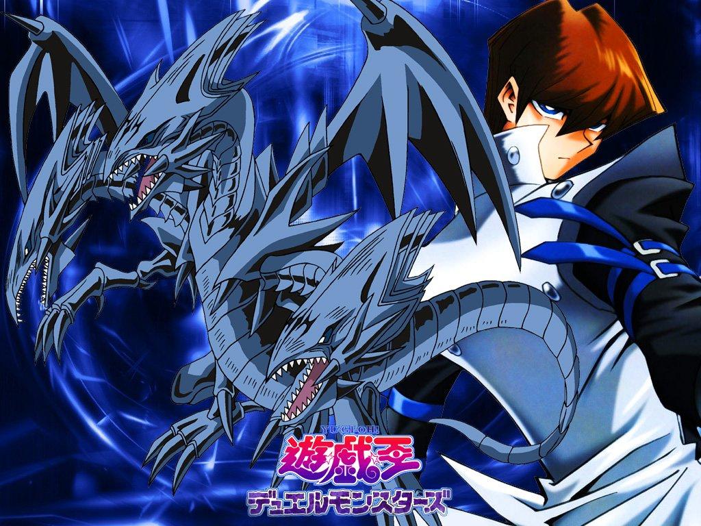 Seto Kaiba And Blue Eyes Ultimate Dragon Blue Eyes White Dragon