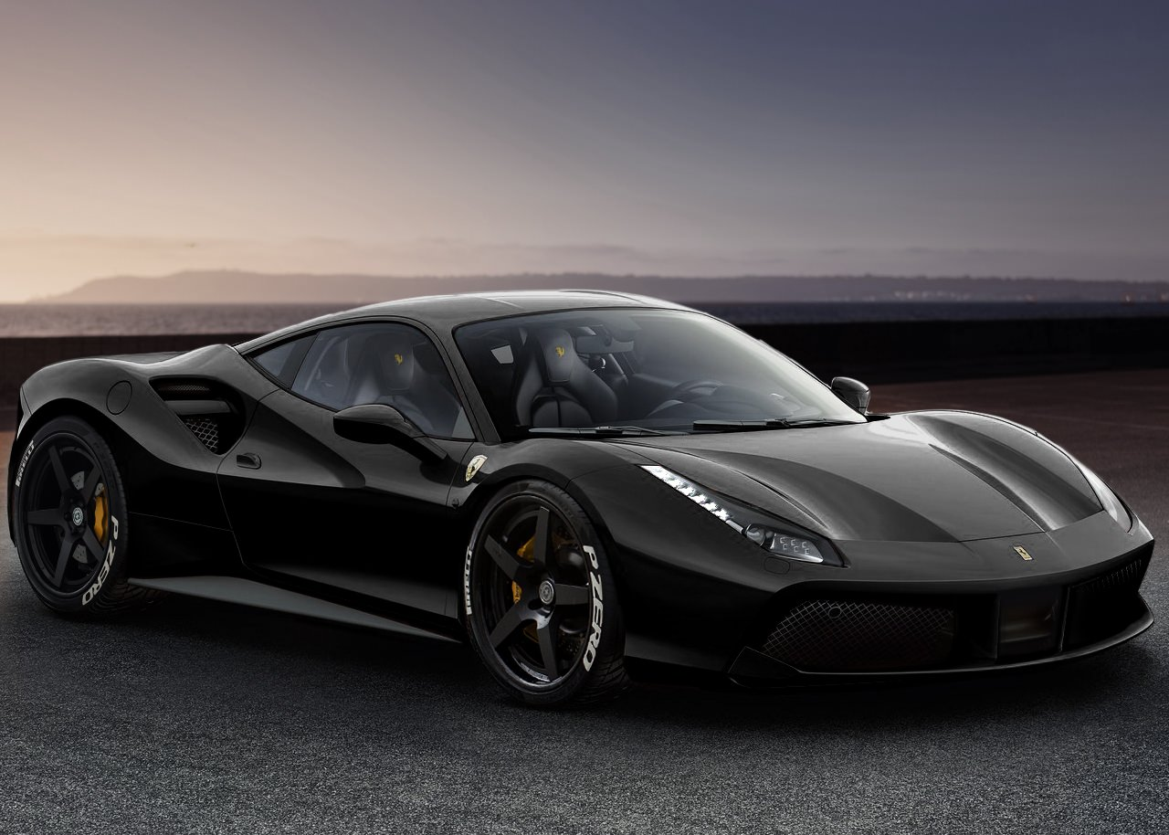 Ferrari 488 Gtb Spider Black Supercars Gallery