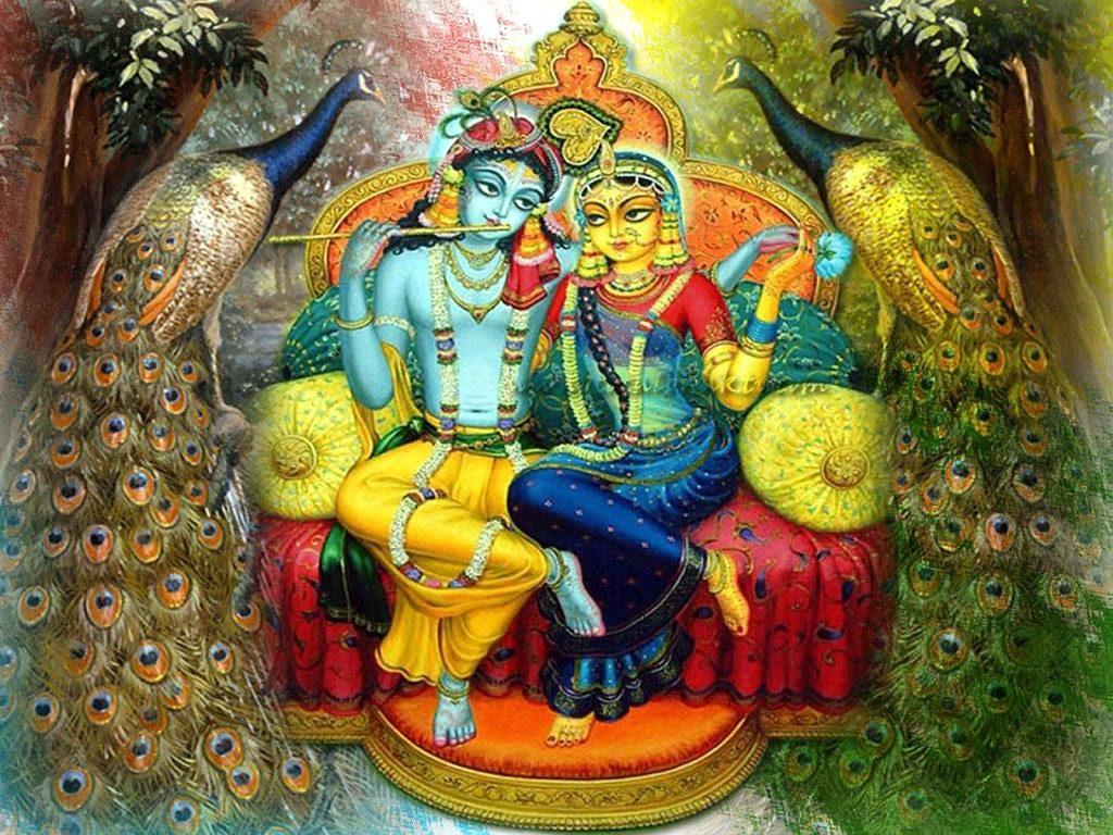Radha Krishna Hd Wallpaper - Famous Hindu God Story , HD Wallpaper & Backgrounds