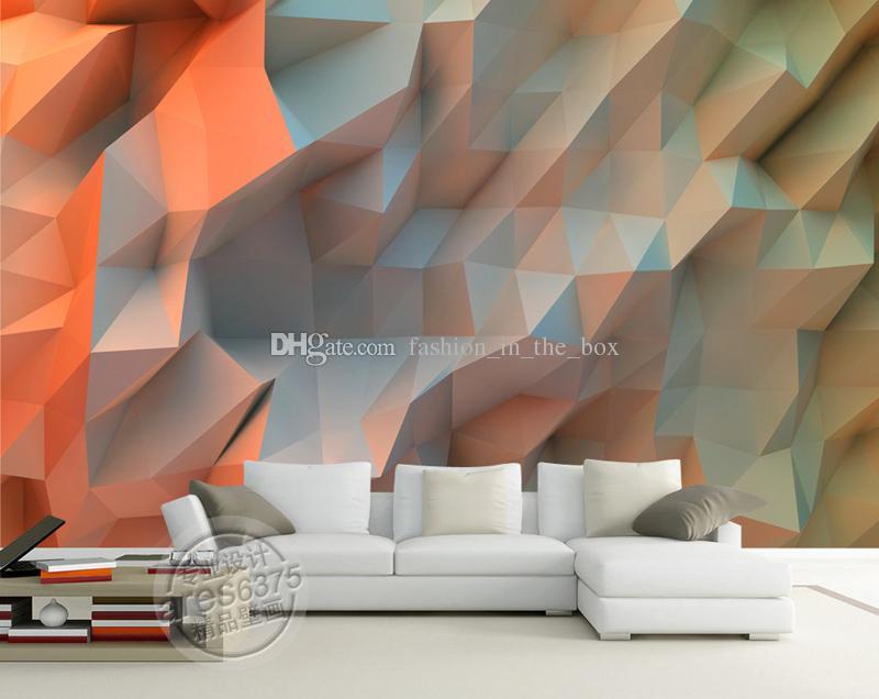 3d Mural Creative Orange Space Wallpaper Bedroom Unique - Living Room Wall Flower Stickers , HD Wallpaper & Backgrounds
