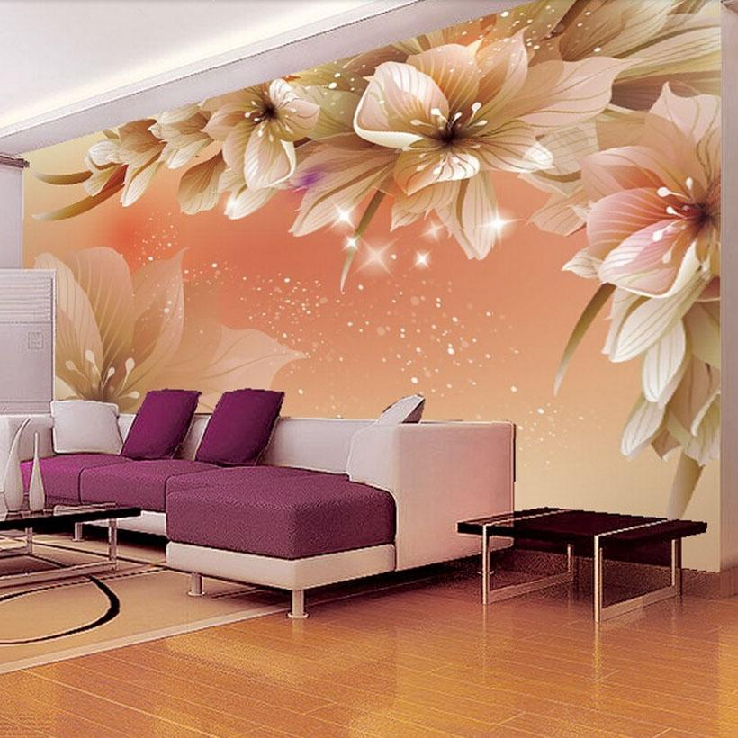 3d Flower Mural Wallpaper