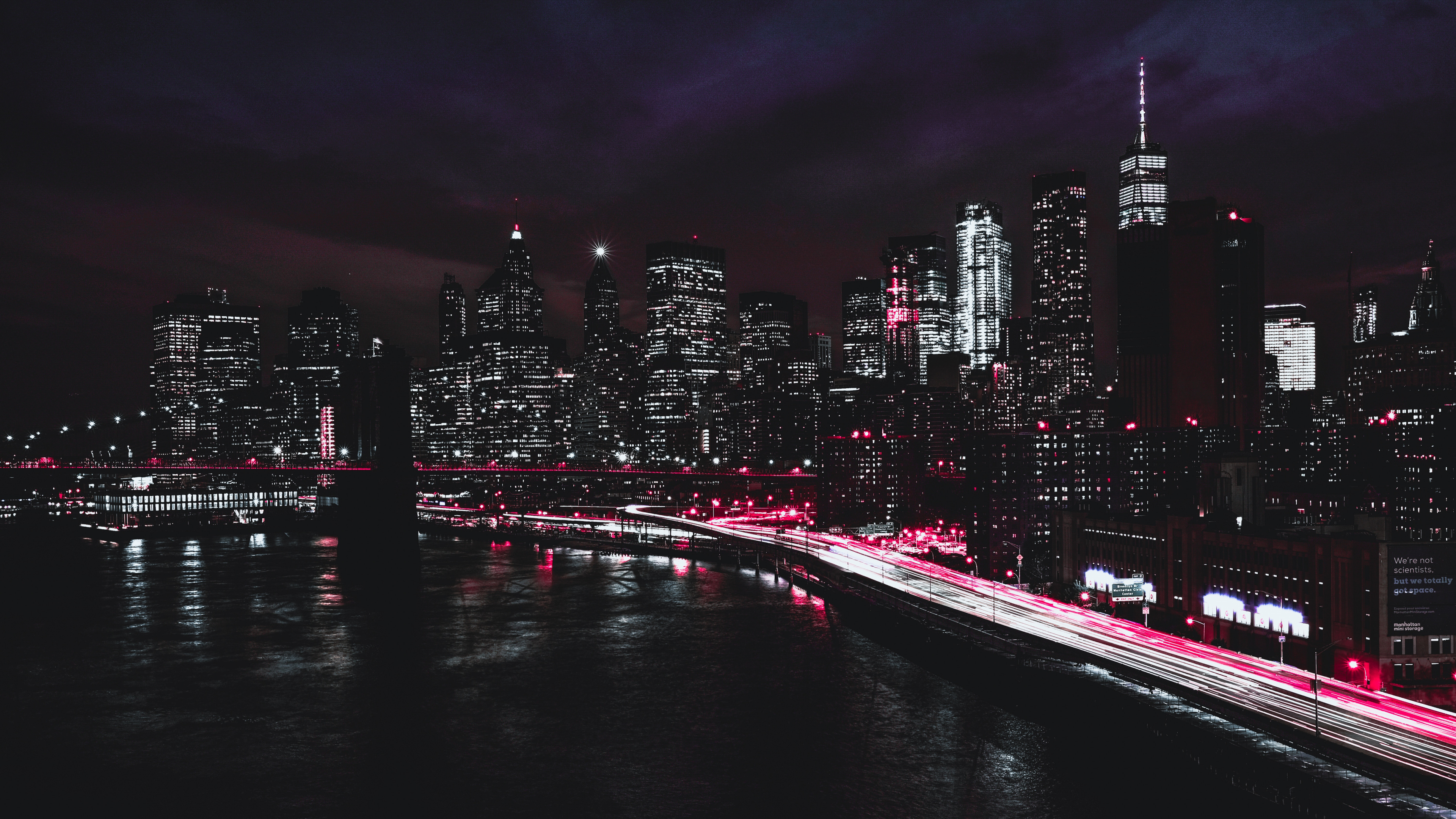 Wallpaper New York Usa Night Skyscrapers Desktop Wallpapers