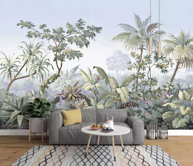 Murwall Forest Wallpaper Tropical Jungle Wall Mural - Banana Leaf , HD Wallpaper & Backgrounds