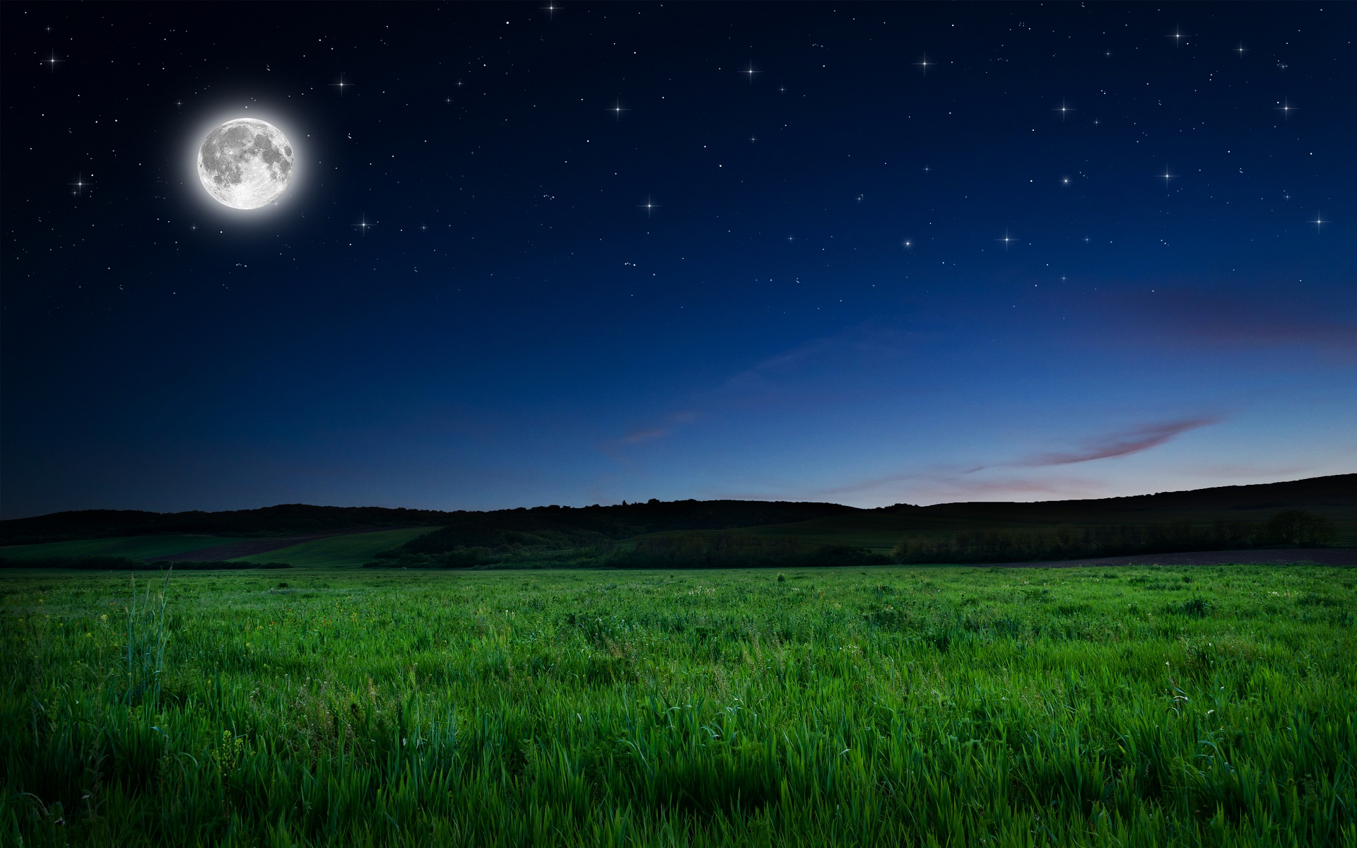 Full Moon Night Wallpaper - Moon Night Hd , HD Wallpaper & Backgrounds