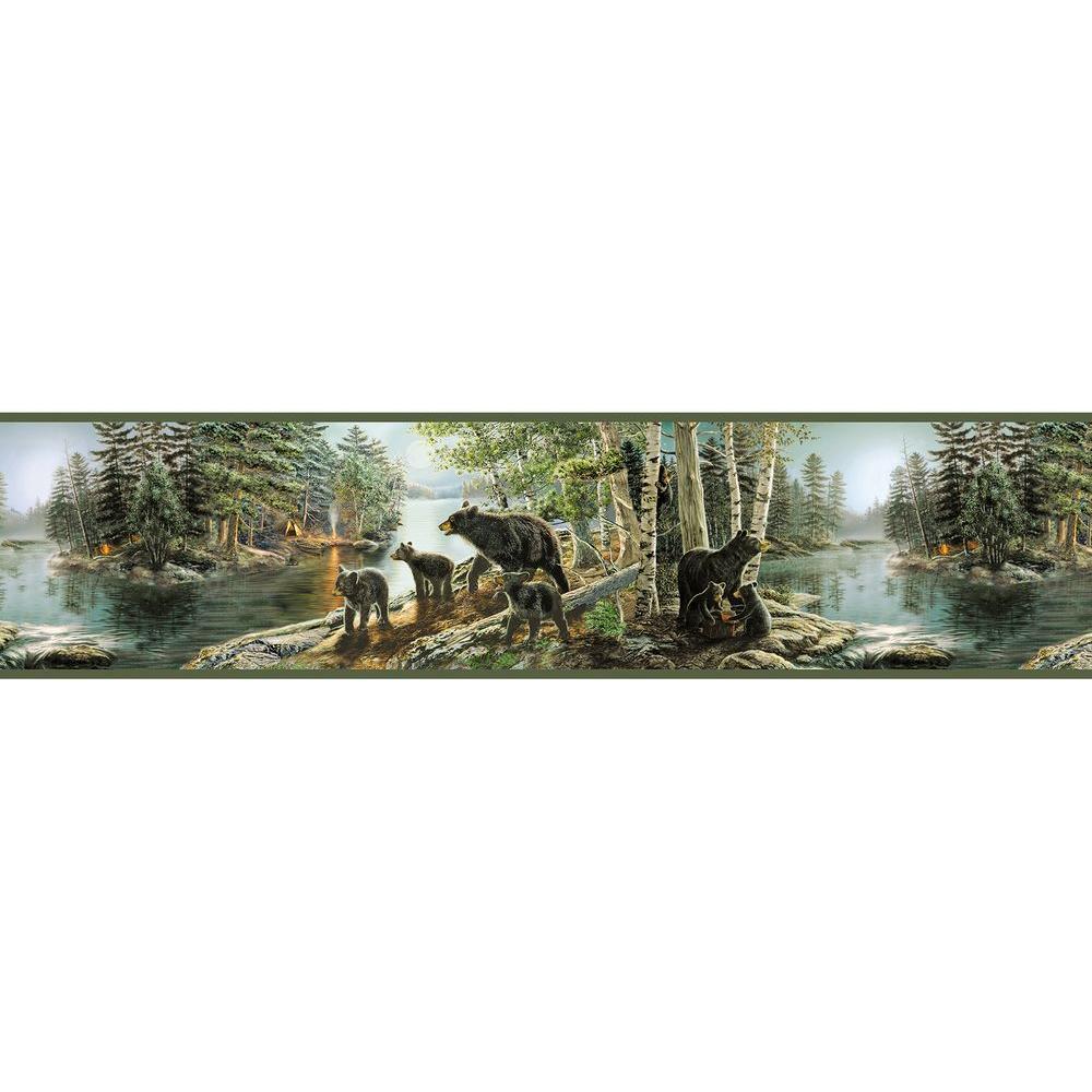 Chesapeake Salvador Green Bear Necessities Wallpaper - Chesapeake Salvador Green Bear Necessities Border Wallpaper , HD Wallpaper & Backgrounds