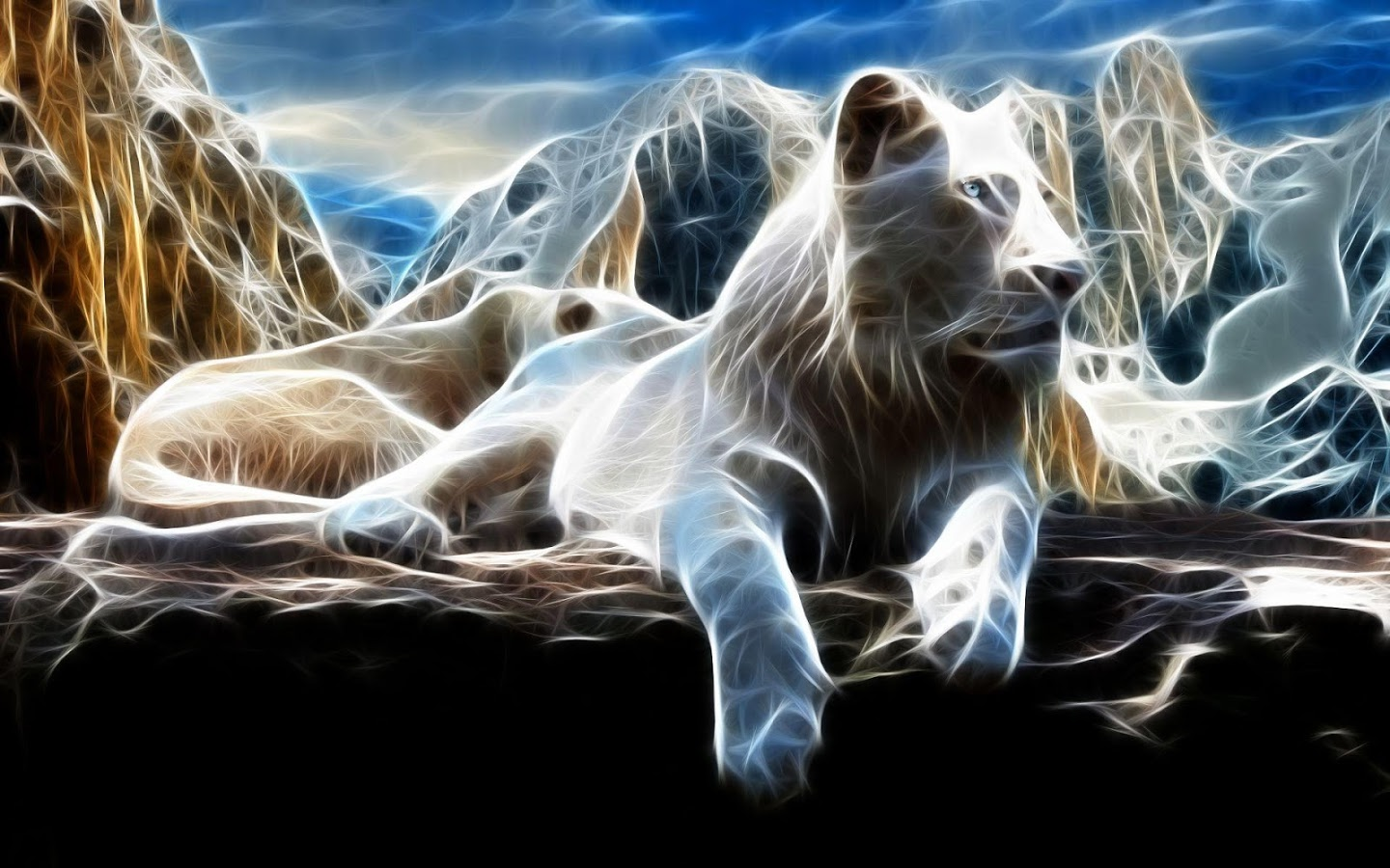 White Lion Wallpapers - White Lion Background , HD Wallpaper & Backgrounds