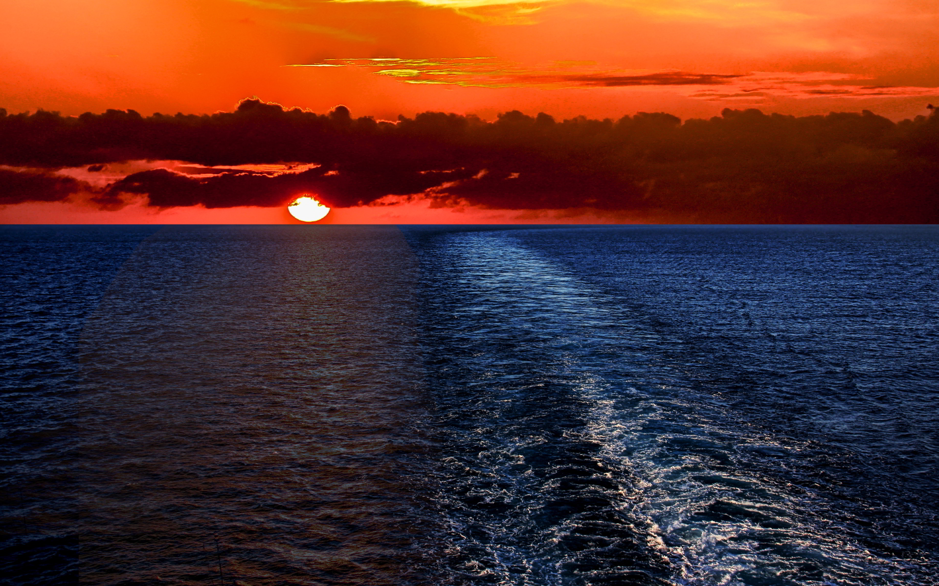 Ocean Scenery Wallpaper Sunset Ocean Scenery Wallpaper - Ocean Hd Wallpaper 1080p , HD Wallpaper & Backgrounds
