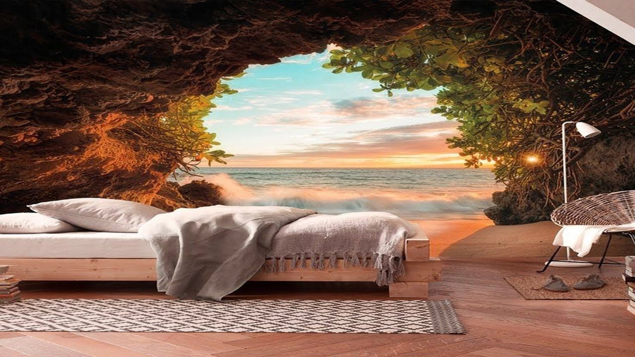 Creative 3d Wall Mural Ideas Scenery Wallpaper Design - Wall Mural For Bedroom , HD Wallpaper & Backgrounds