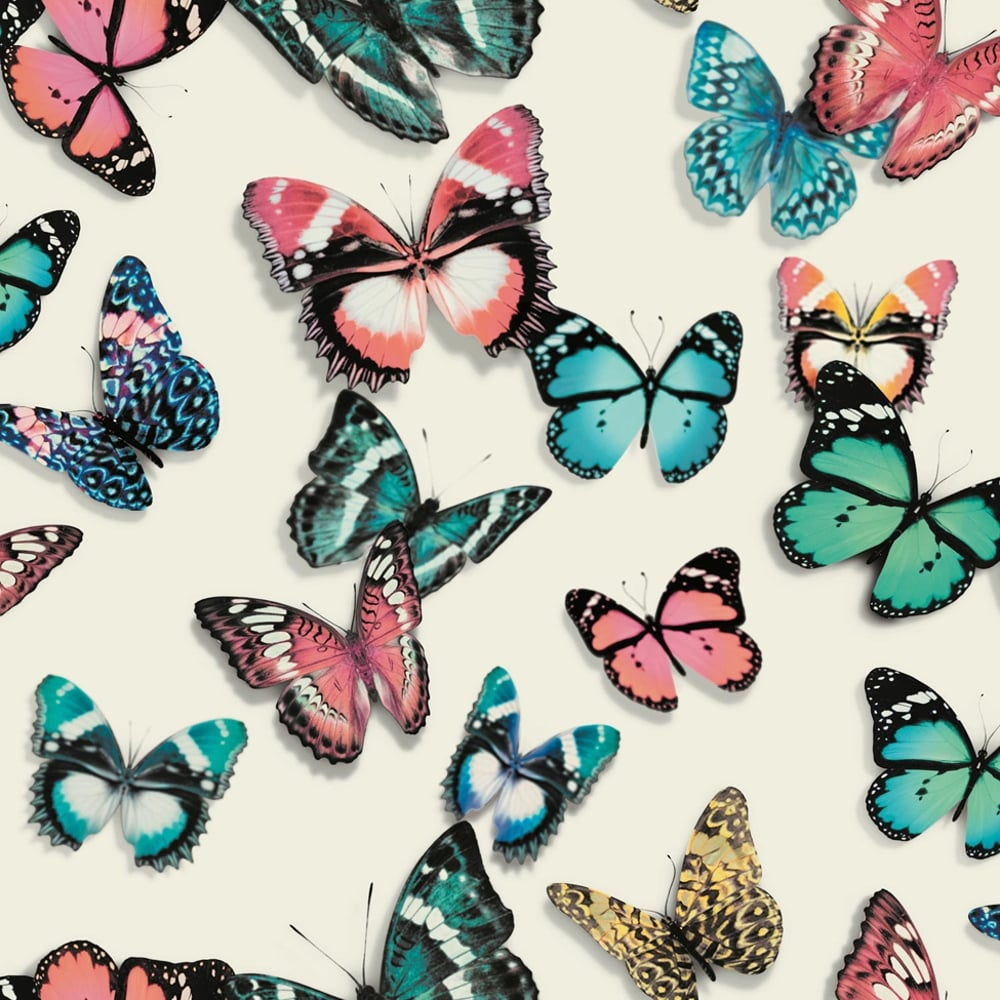 Muriva Flutterby Butterfly Pattern Wallpaper Modern - Butterfly Pattern , HD Wallpaper & Backgrounds