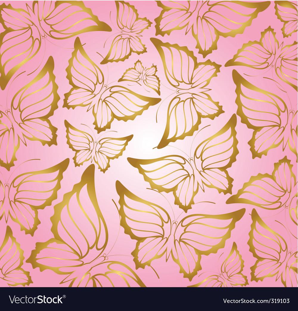 Butterfly Wallpaper Pattern Vector Image - Butterfly Wallpaper Design , HD Wallpaper & Backgrounds