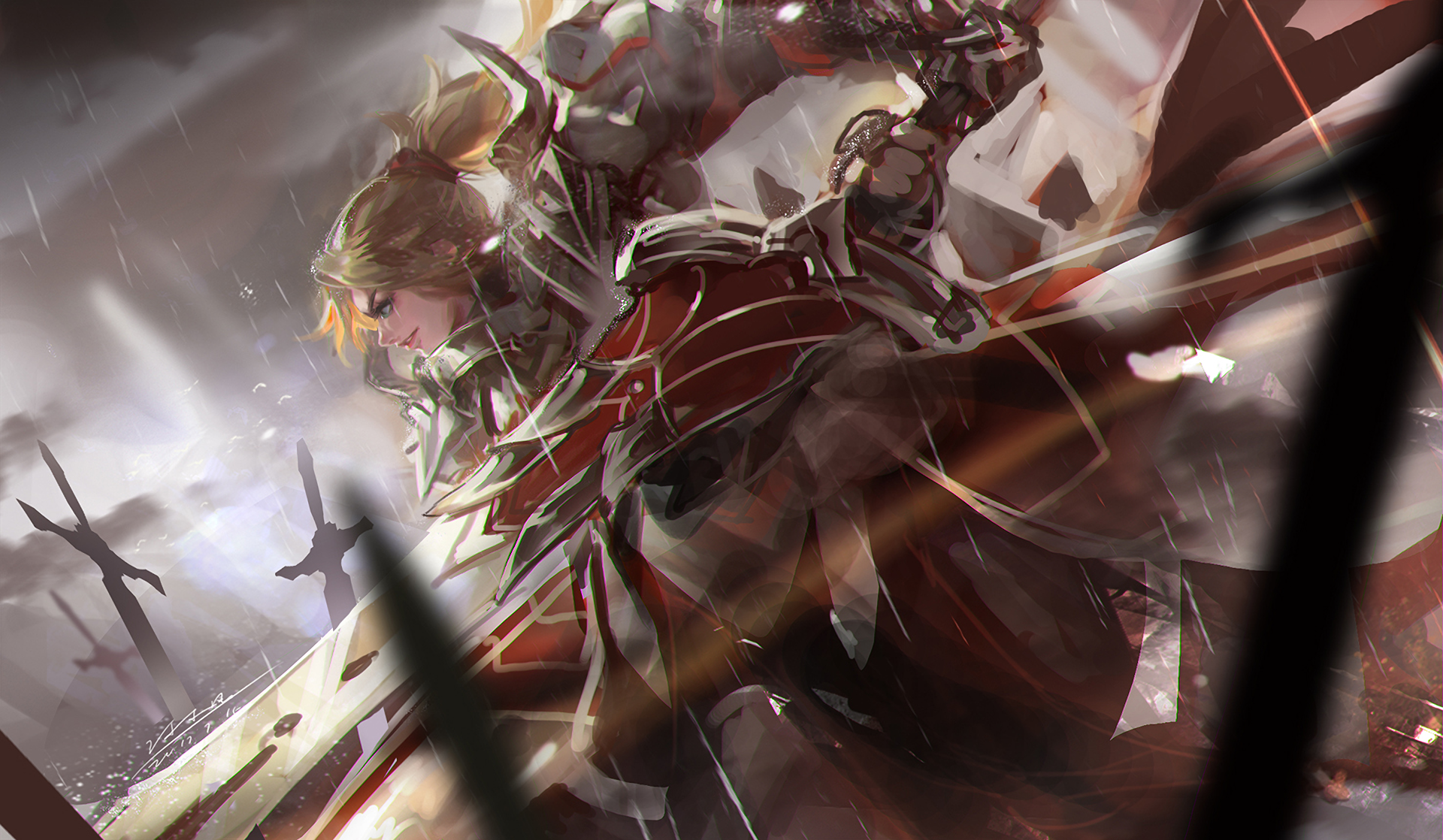Hd Wallpaper - Fate Apocrypha Mordred , HD Wallpaper & Backgrounds