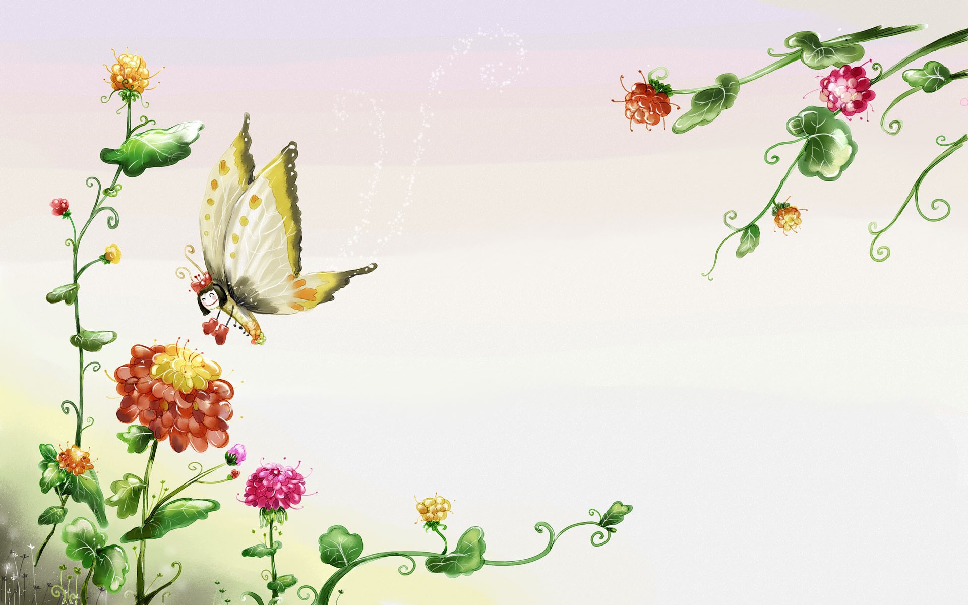 Beautiful Butterfly Wallpaper - Butterfly Desktop Backgrounds , HD Wallpaper & Backgrounds