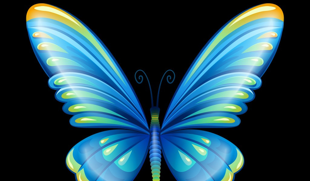 Glitter Butterfly Wallpaper Blue Butterfly Clipart Png 159864 Hd Wallpaper Backgrounds Download