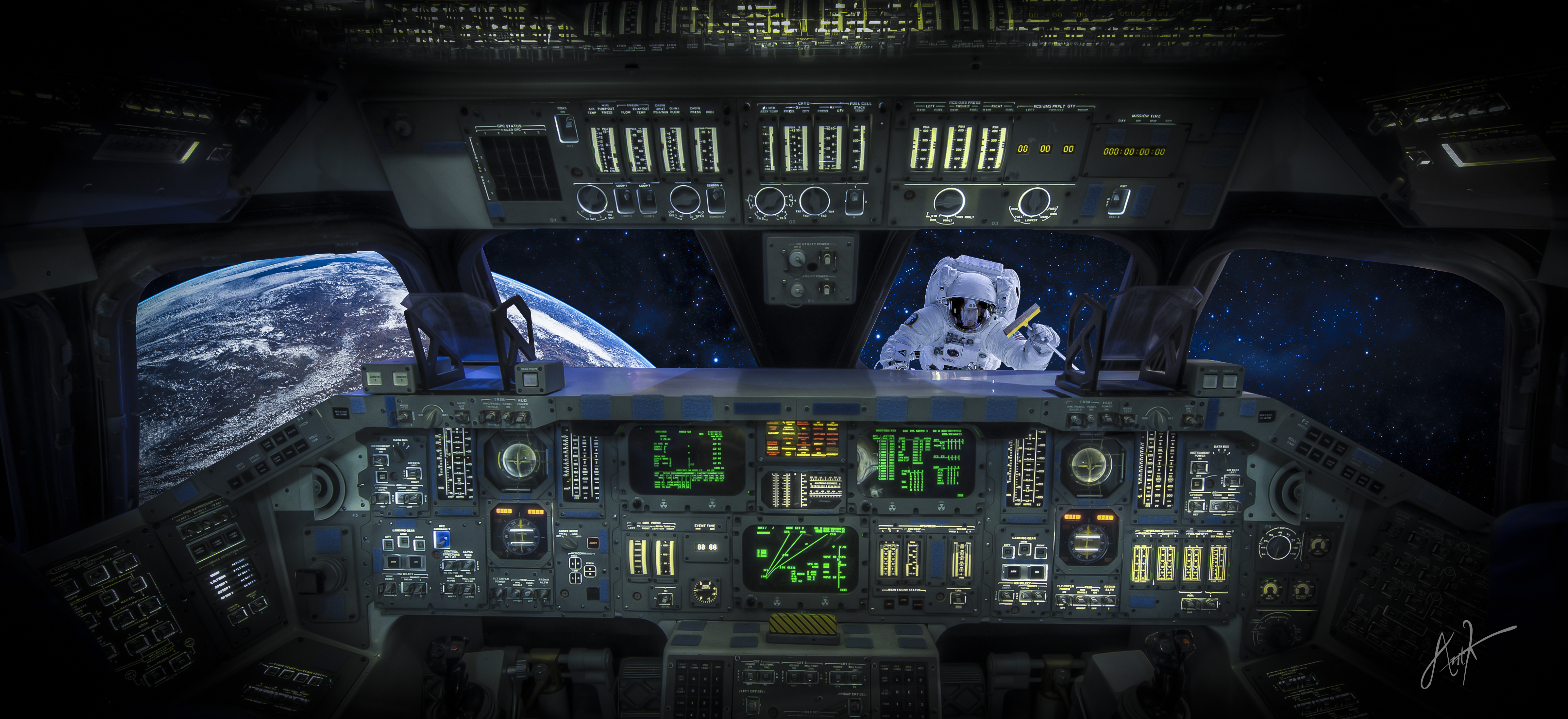 Space Shuttle Widescreen 15 July, - Spaceship Cockpit Wallpaper 4k , HD Wallpaper & Backgrounds