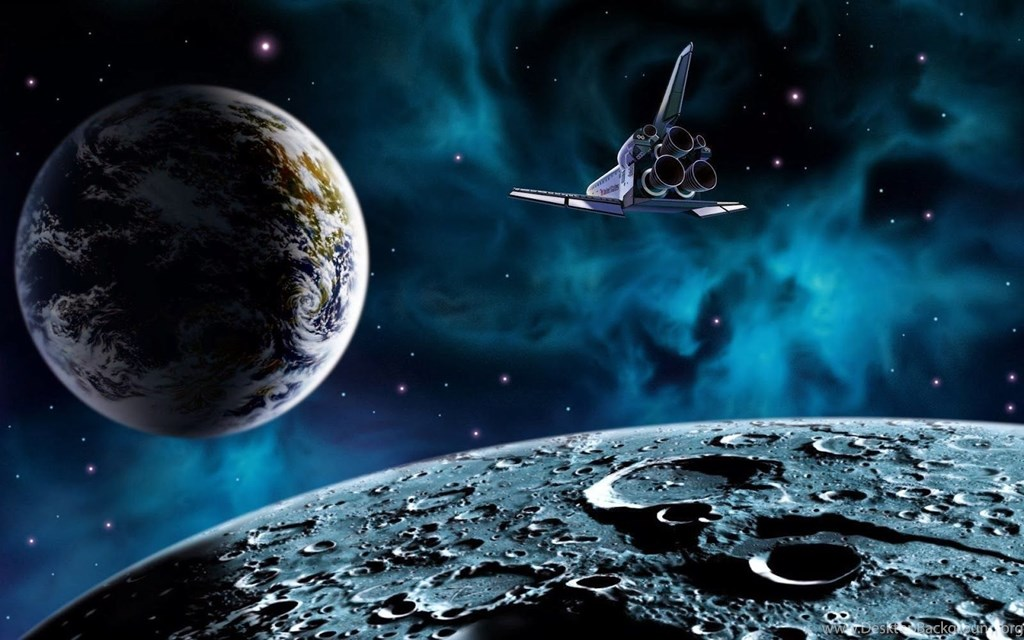 Outer Space Cartoon Backgrounds , HD Wallpaper & Backgrounds