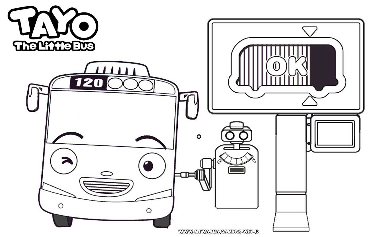 Robocar Poli Helly Kleurplaat Tayo Coloring Page 1501241 Hd Wallpaper Backgrounds Download