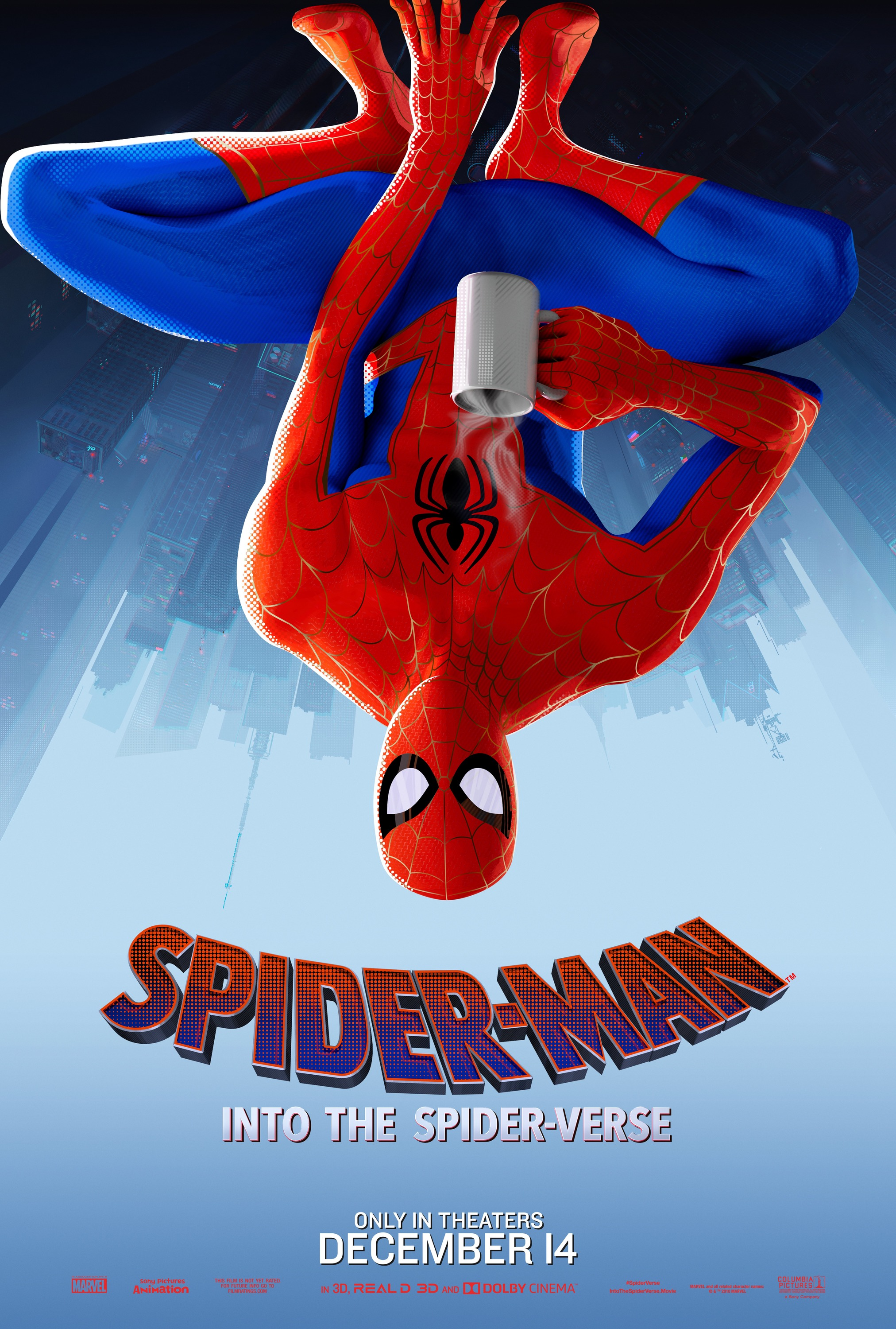 Into The Spider Verse Peter Parker Poster Spiderman Into The