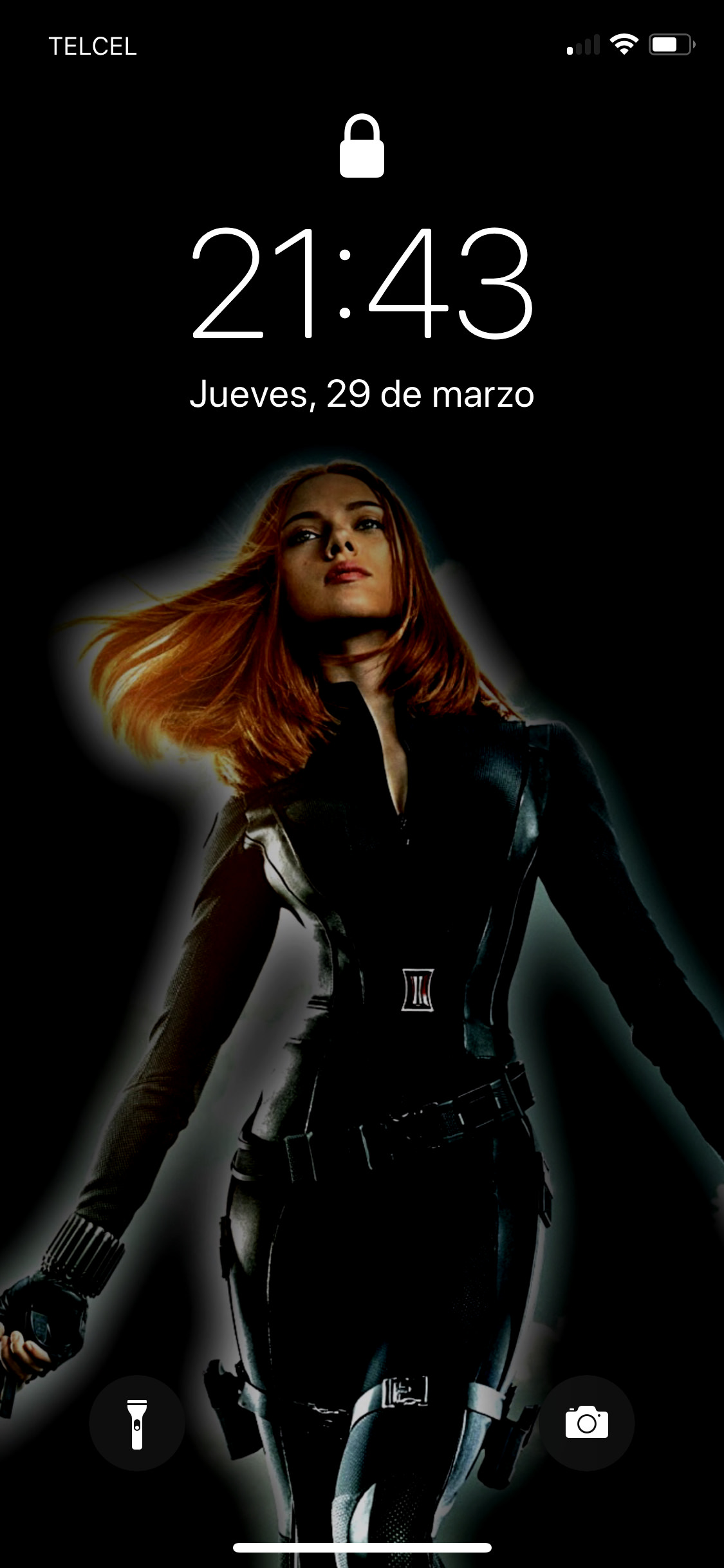 My Black Widow Wallpaper Iphone Good Morning Screen