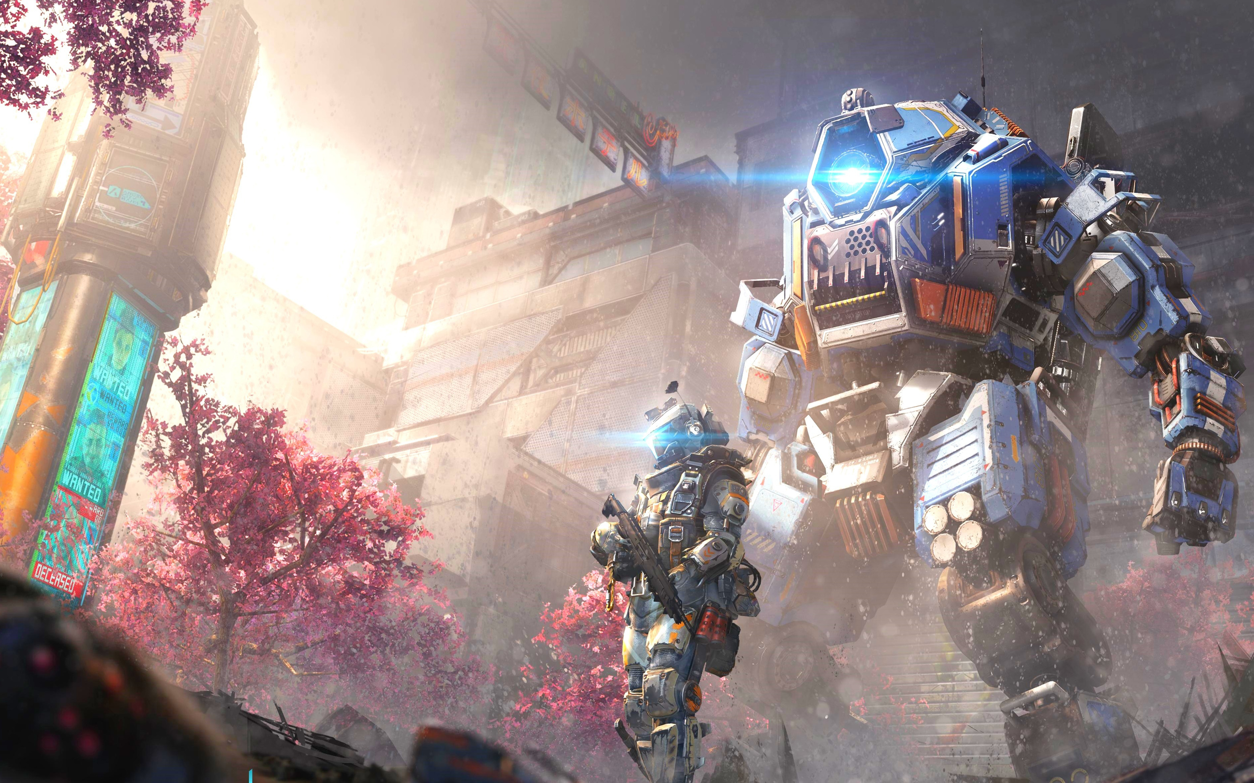 Titanfall 2 Angel City 4k , HD Wallpaper & Backgrounds