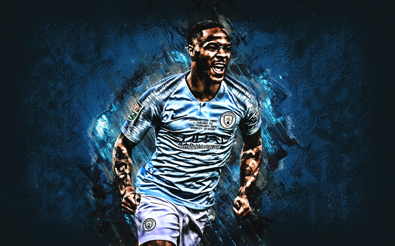 Raheem Sterling Grunge Manchester City Fc 2019 Raheem