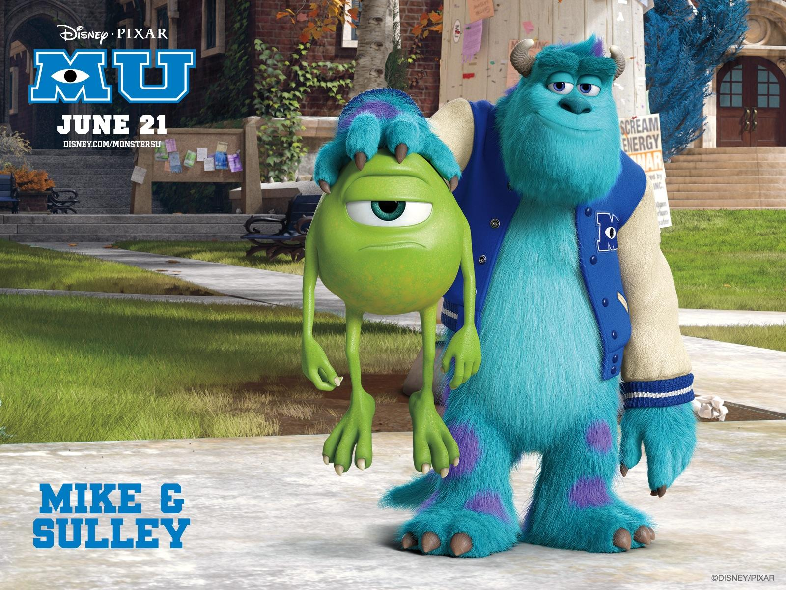 [movie Review] Lessons To Learn From Mike & Sully From - Monsters University Mike And Sully , HD Wallpaper & Backgrounds