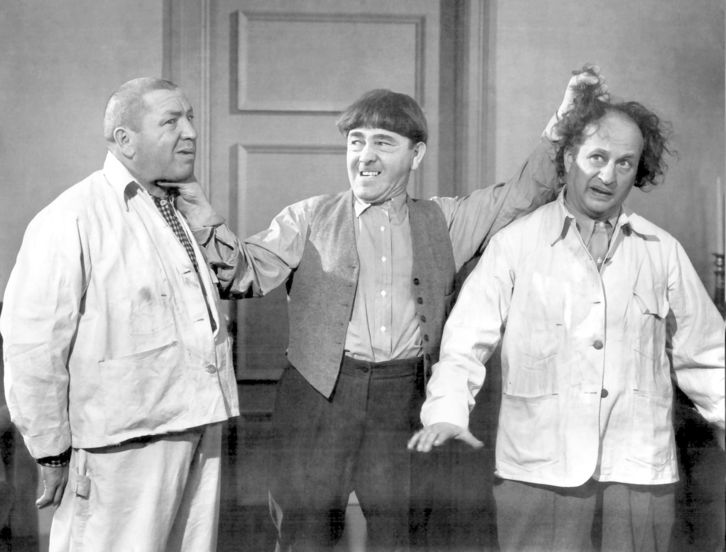 Three Stooges Wallpaper Group Pictures Monochrome