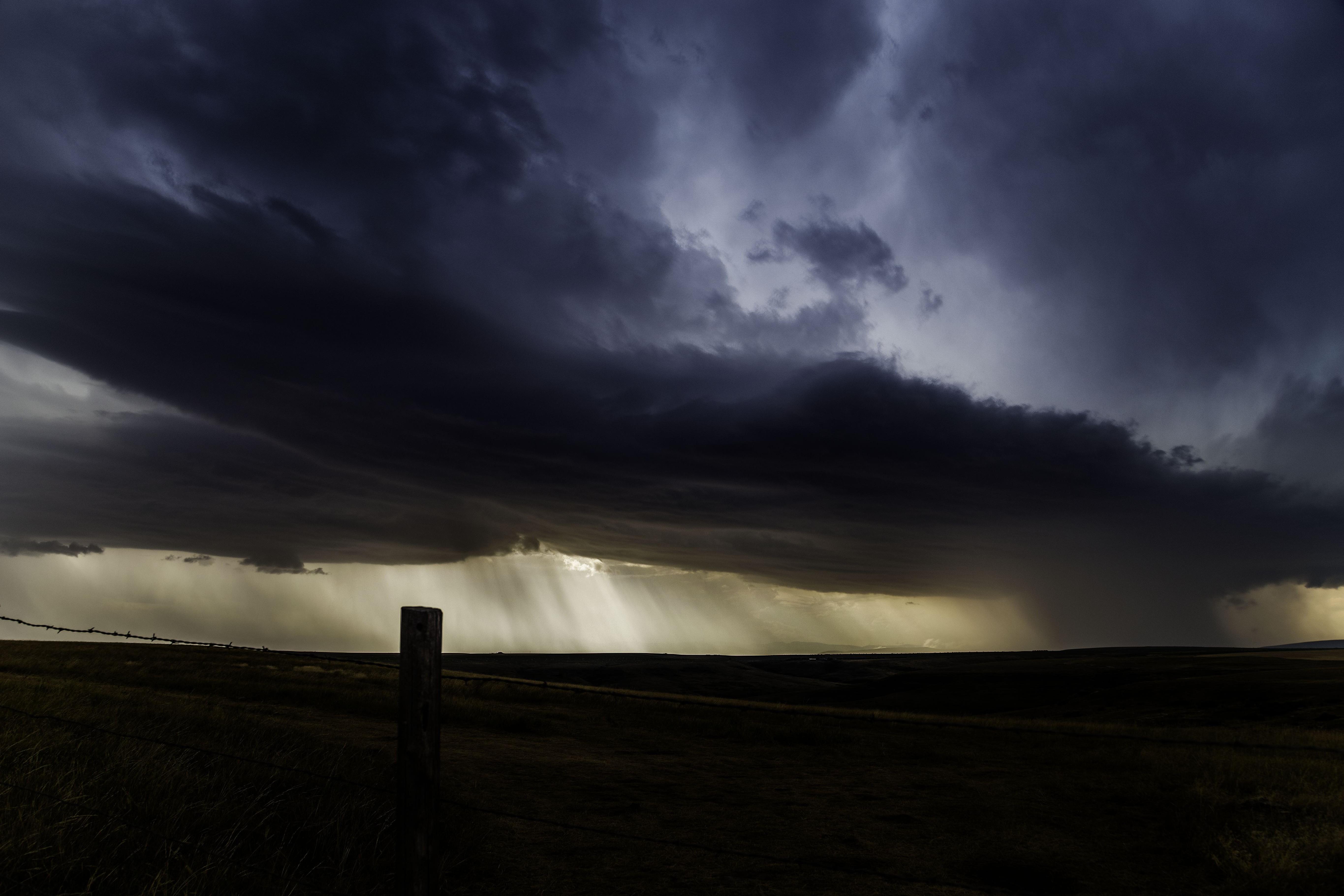 Photo Manipulation Storm Clouds Rain Nature Valley