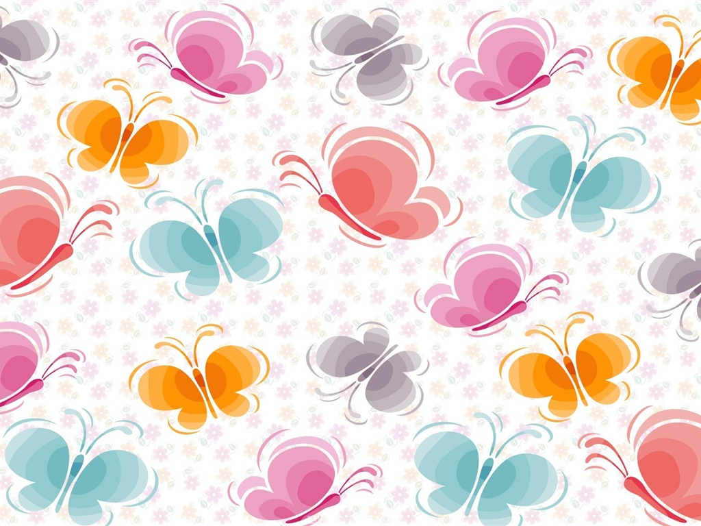 Wallpaper Butterfly Pattern Vector Background Hd Picture, - Butterfly Background Hd Pattern , HD Wallpaper & Backgrounds