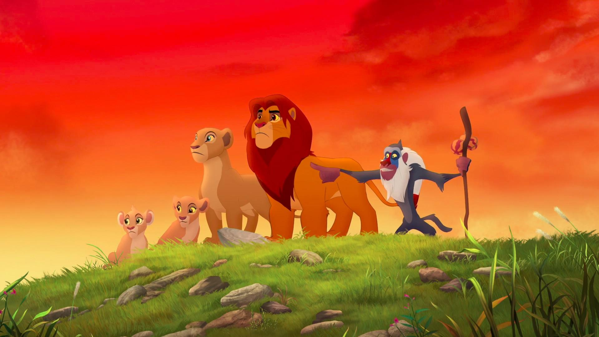 Simba Nala Kiara Tiifu Аnd Rafiki Lion Guard Hd Wallpaper - Lion Guard Return Of The Roar 2015 , HD Wallpaper & Backgrounds