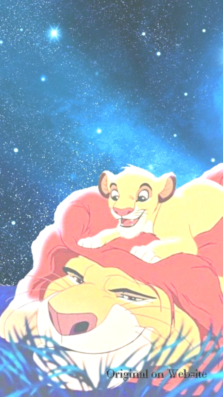 Iphone Wallpaper Disney Characters Simba And Mufasa Rey