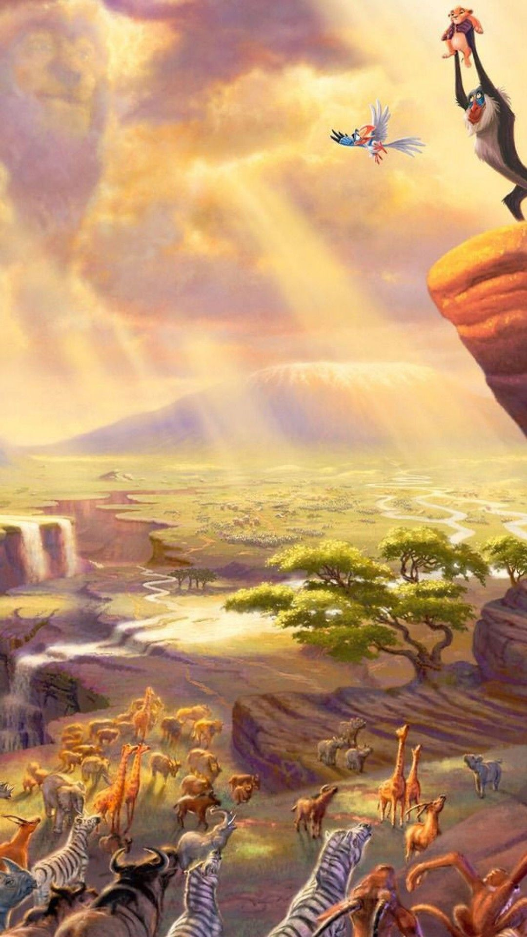 Lion King Iphone Wallpaper - Holding Up Simba Lion King Movie , HD Wallpaper & Backgrounds