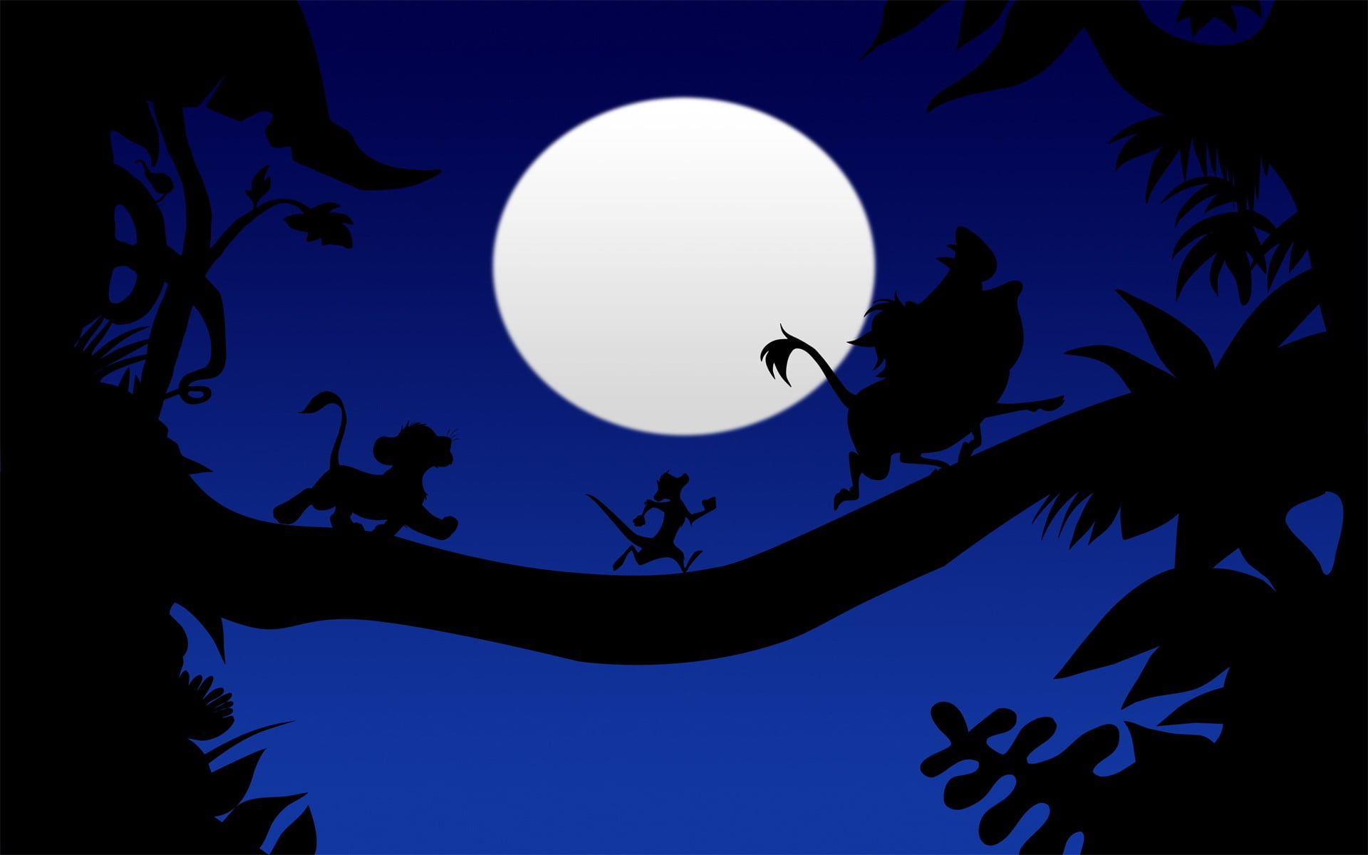 Lion King Wallpaper, The Lion King, Cartoon, Animated - Silhouette , HD Wallpaper & Backgrounds
