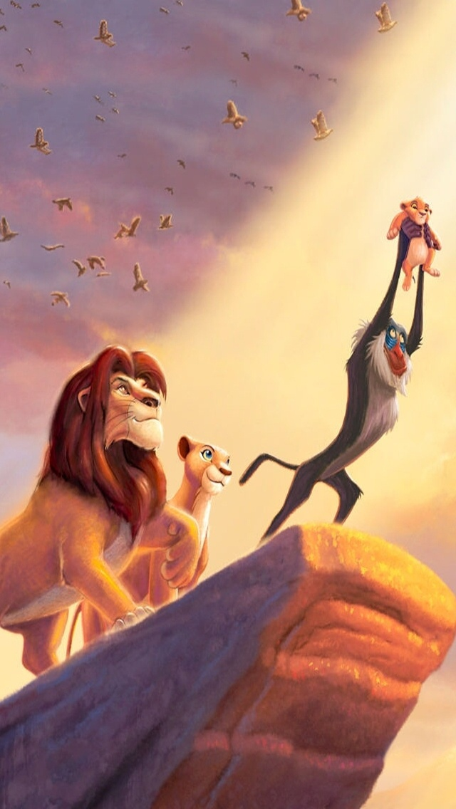 The Lion King Painting - Lion King Background Iphone , HD Wallpaper & Backgrounds