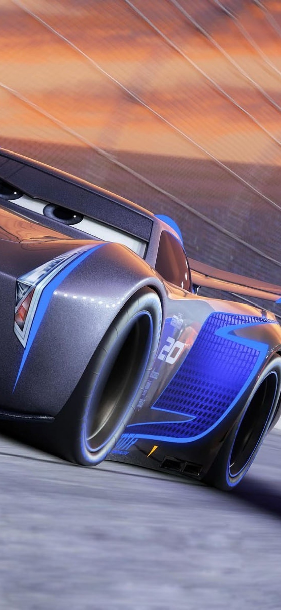 Cars 3 Jackson Storm Lightning Mcqueen Animation Cars 3 Blue Car 1528363 Hd Wallpaper Backgrounds Download