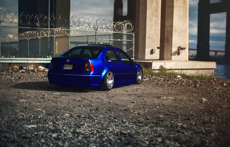 Photo Wallpaper Blue Tuning Volkswagen Blue Volkswagen Jetta Mk4 1534360 Hd Wallpaper Backgrounds Download