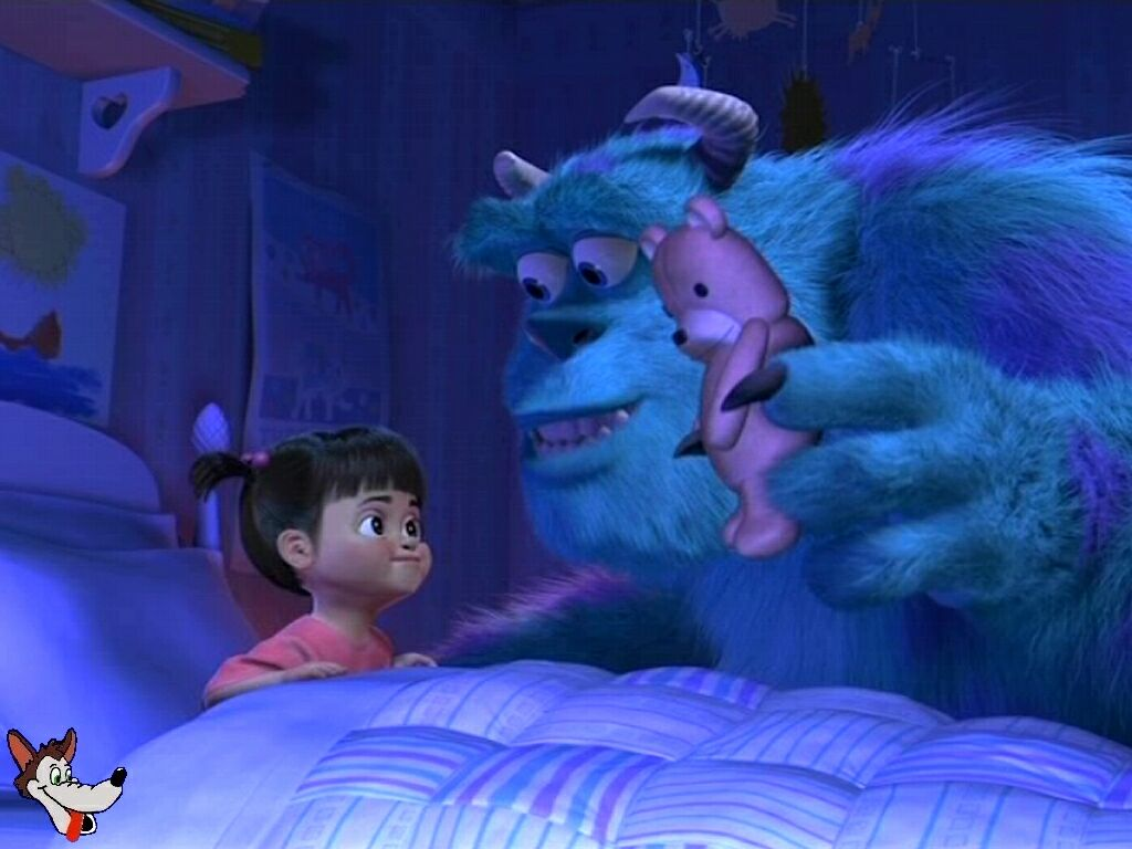 Monsters Inc Putting Boo To Bed - Boo In Bed Monsters Inc , HD Wallpaper & Backgrounds