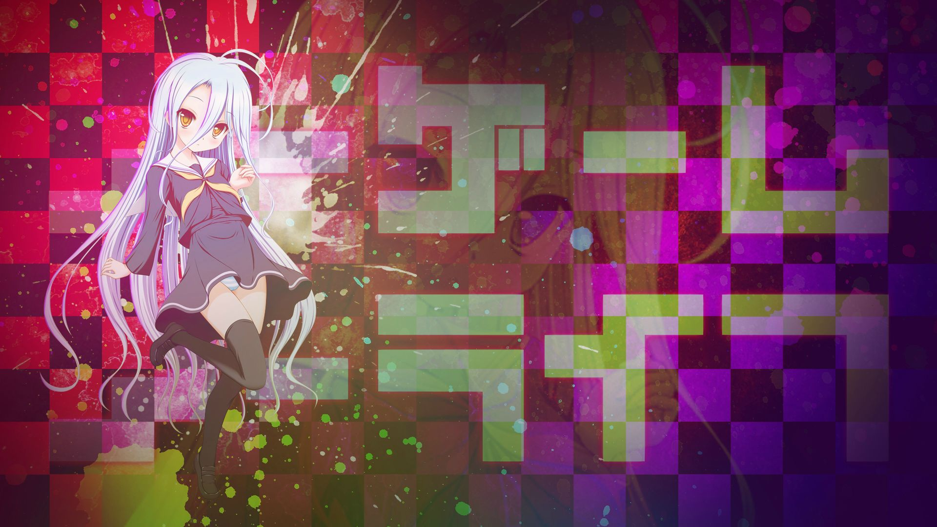Shiro Background Shiro No Game No Life 1537698 Hd Wallpaper