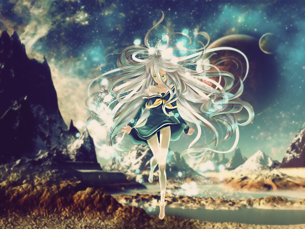 Wallpaper White Hair, Shiro, No Game No Life, Anime - 2160 X 1440 Wallpaper Space , HD Wallpaper & Backgrounds