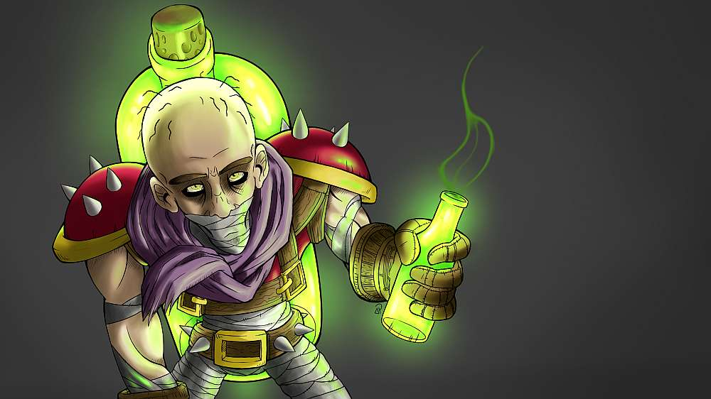 Singed Jako Maszyna Z Napojami - Lol Singed Troll , HD Wallpaper & Backgrounds