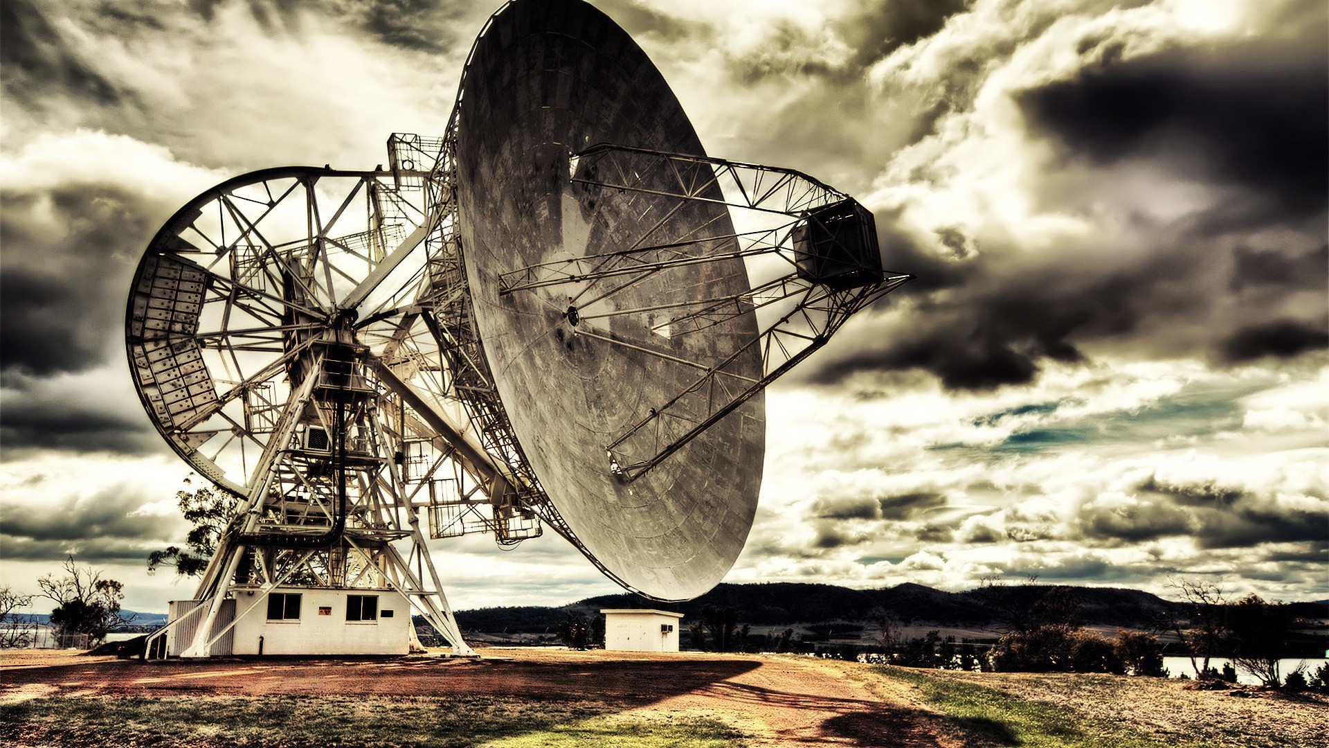 Landscape Radio Telescope Wallpaper And Background Radio