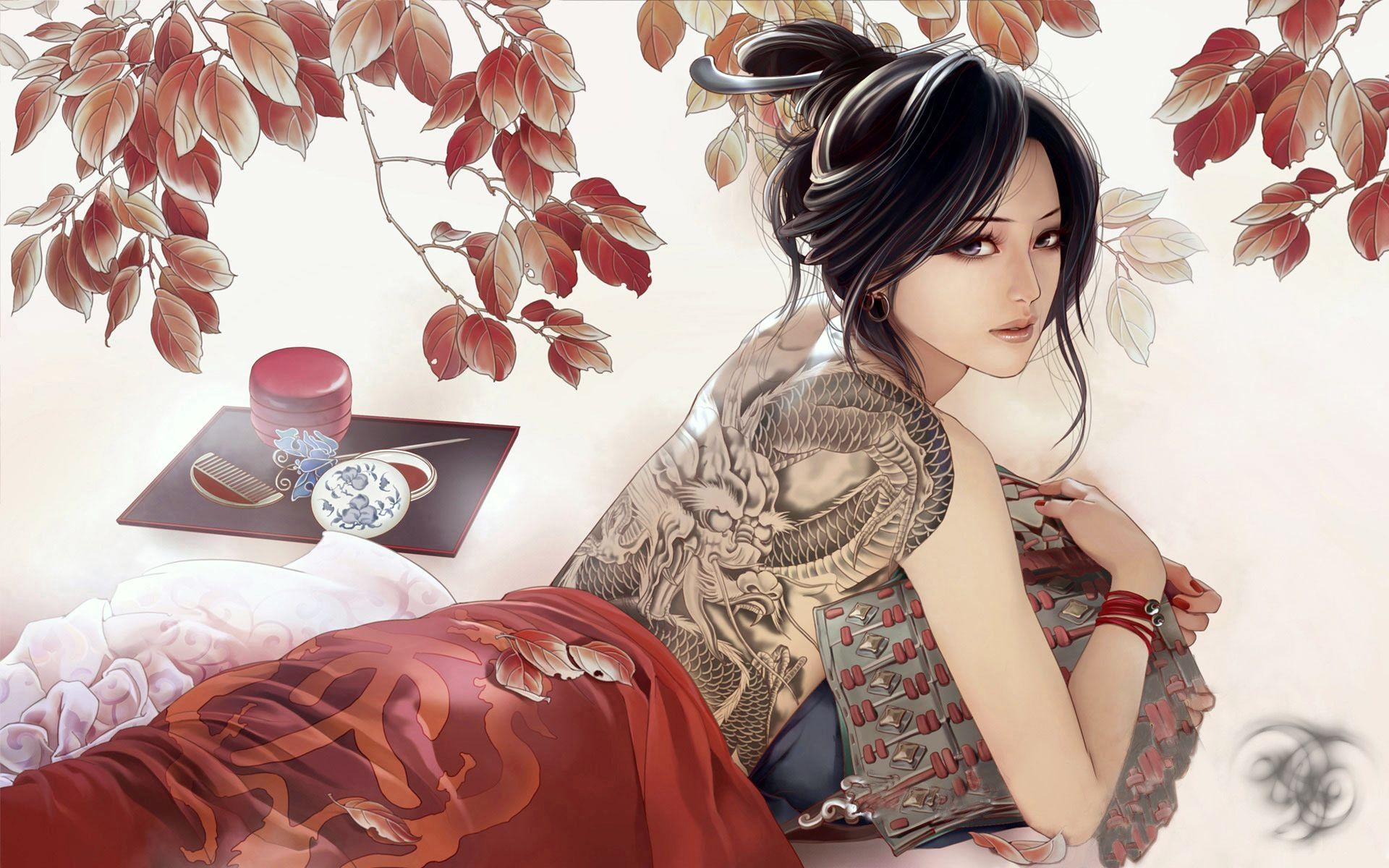 Desktop Wallpaper Memoirs Of A Geisha Anime Girls With Tattoos