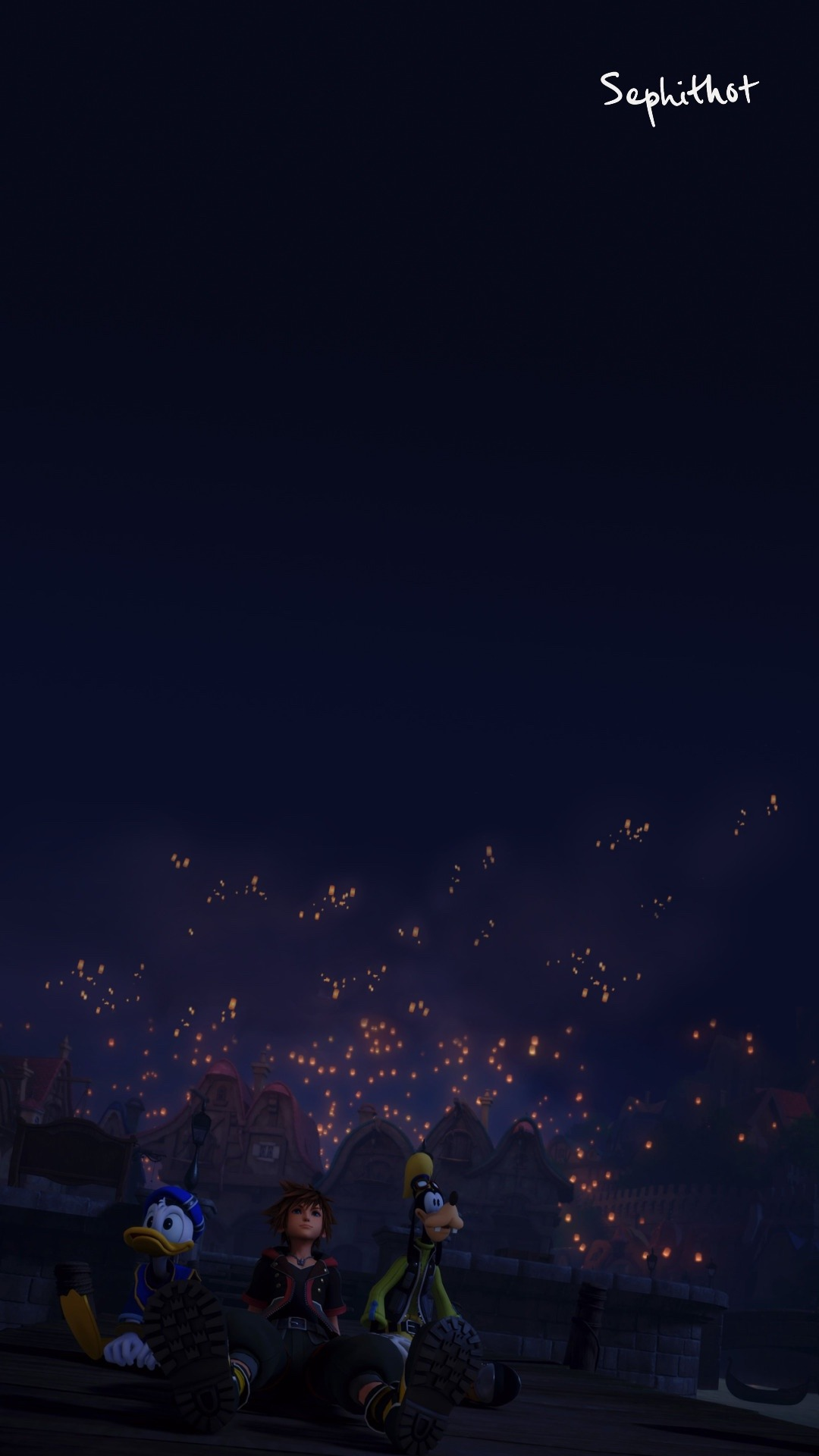 Made A Phone Wallpaper From The Scene In Kingdom Hearts Kingdom